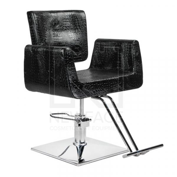 Fotel fryzjerski Vito BM-017 czarny LUX #1