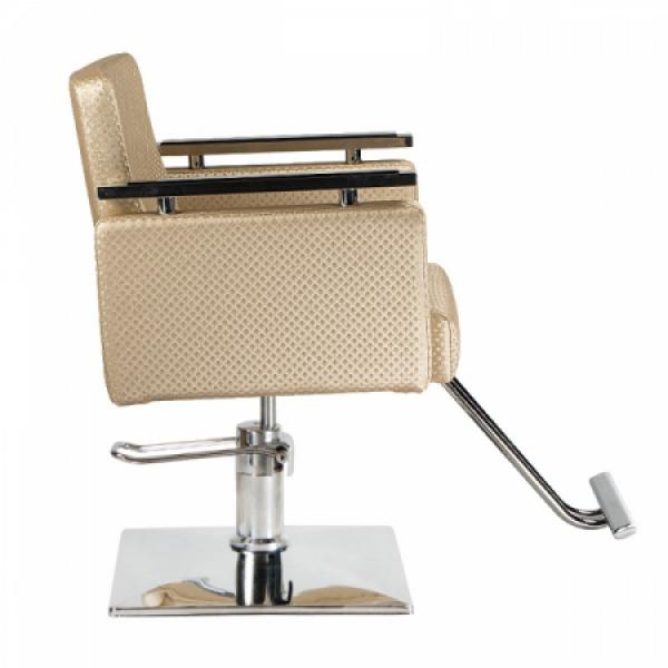Fotel fryzjerski Simone kremowy BM-204 #4