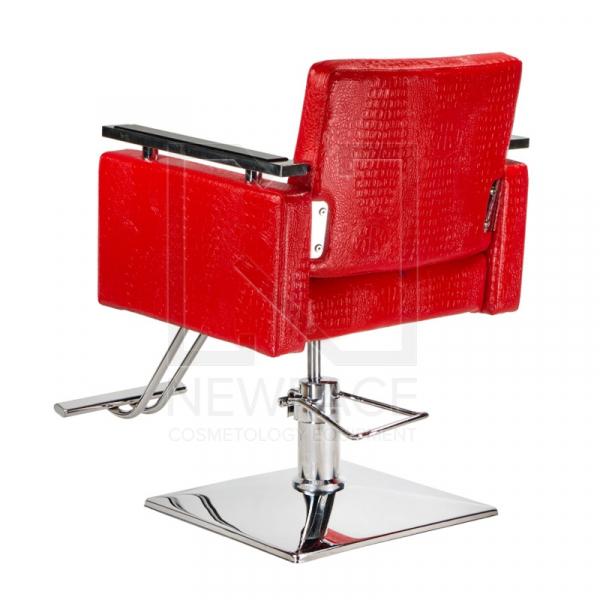 Fotel fryzjerski Simone czerwony BM-204 #3
