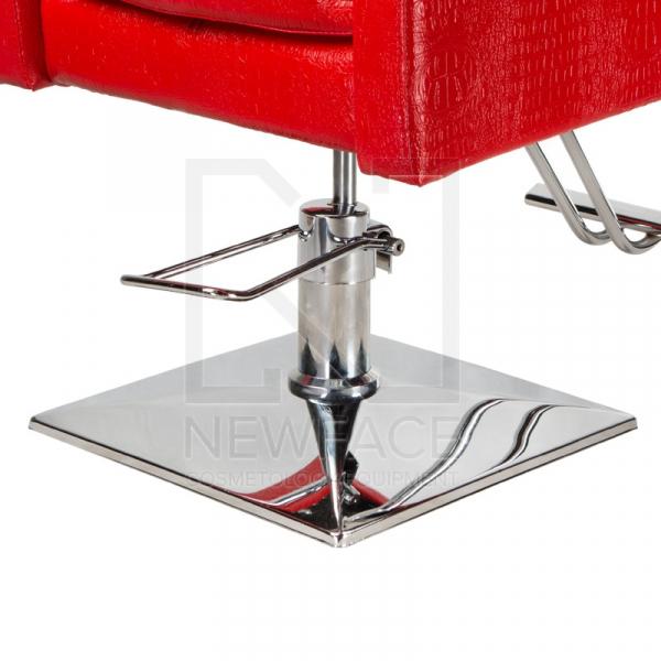 Fotel fryzjerski Simone czerwony BM-204 #5