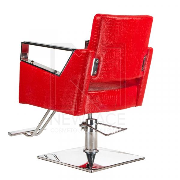 Fotel fryzjerski Roberto czerwony BM-203 #2