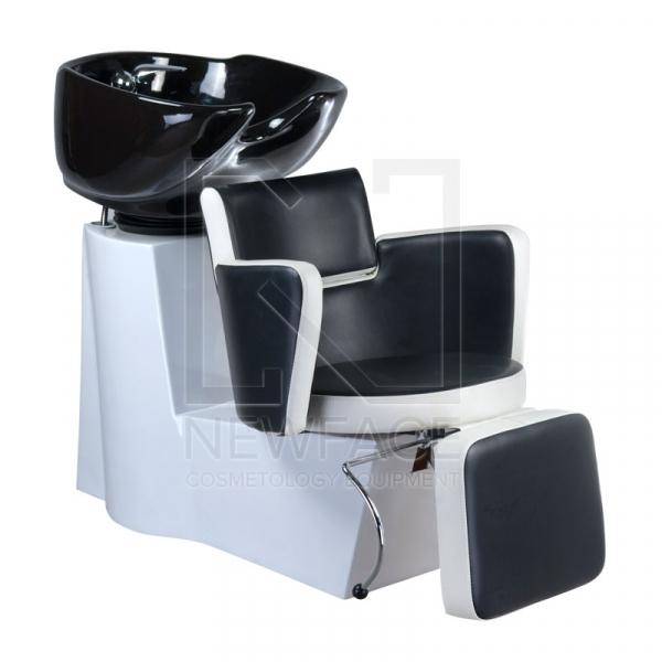 Myjnia fryzjerska LUIGI BR-3542 czarno-biała #1