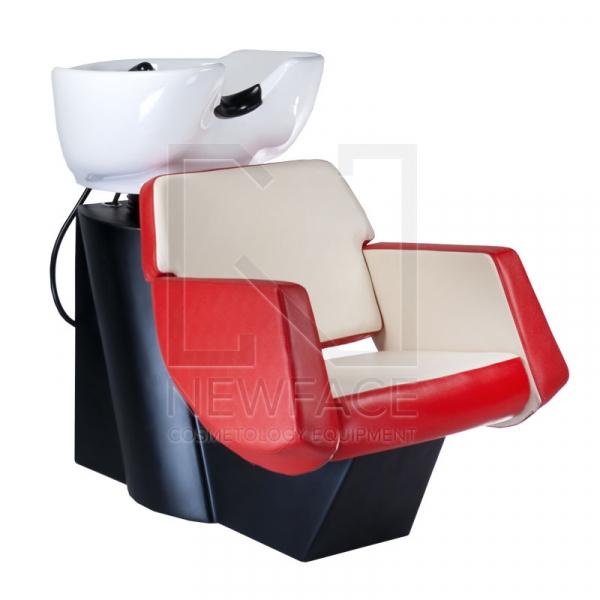 Myjnia fryzjerska NICO czerwono-kremowa BD-7821 #1