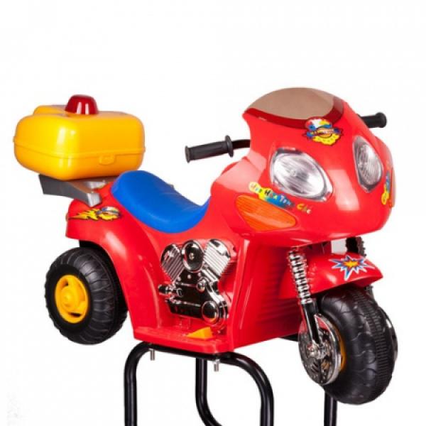 Dziecięcy fotel fryzjerski Moto BW-604 czerwony #2