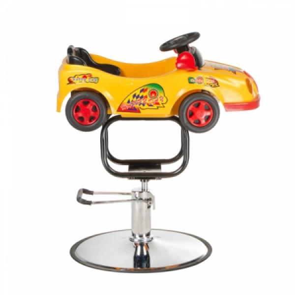 Dziecięcy fotel fryzjerski Autko BW-602 żółty #3