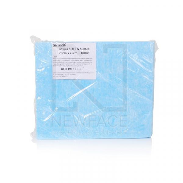 Jednorazowe Chusty-Myjki Zabiegowe 100 Szt. Soft&Scrub 20x25cm #1
