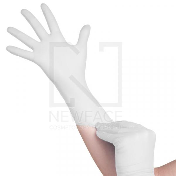 Jednorazowe Rękawiczki Białe Lateksowe S #1