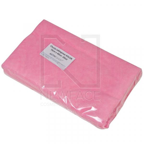 Jednorazowe Chusty Zabiegowe 20 Szt. 70x40 Cm Różowe #1