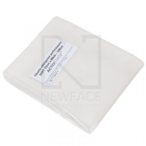 Jednorazowe Chusty Zabiegowe Perforowane 100 Szt. 15x20 Cm Białe #1