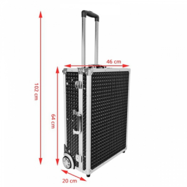 Kufer Kosmetyczny Glamour 9606 Czarny Cube (Przenośne Stanowisko) #8