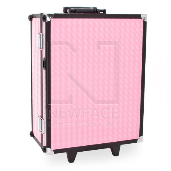 Kufer Kosmetyczny Glamour 9552 Różowy Cube (Przenośne Stanowisko) #2