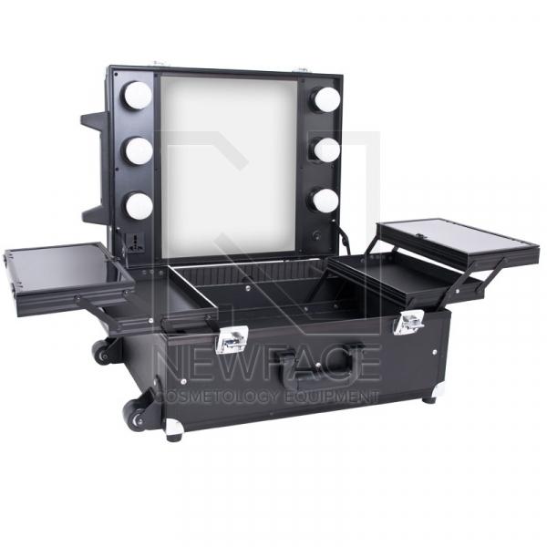 Kufer Kosmetyczny Glamour 9552 Czarny Cube (Przenośne Stanowisko) #1