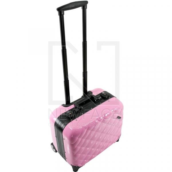 Kufer Kosmetyczny Glamour 9302-2 Różowy (Przenośne Stanowisko) #5
