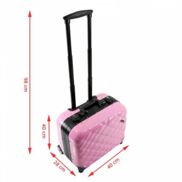 Kufer Kosmetyczny Glamour 9302-2 Różowy (Przenośne Stanowisko) #7