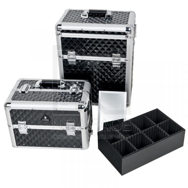 Kufer Kosmetyczny Glamour D-9009 Diamond Czarny #2