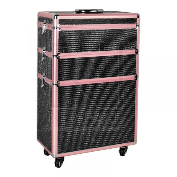 Kufer Kosmetyczny Glamour 9023 Czarny Crystal #1
