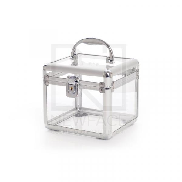 Kuferek Kosmetyczny S - Mini Przezroczysty White #1