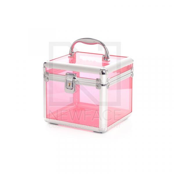 Kuferek Kosmetyczny S - Mini Przezroczysty Pink #1