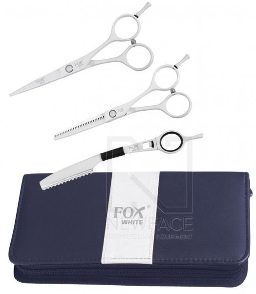 """Komplet Fox White (Nożyczki 5,5"""", Degażówki 5,5"""", Nóż Chiński) #1"""