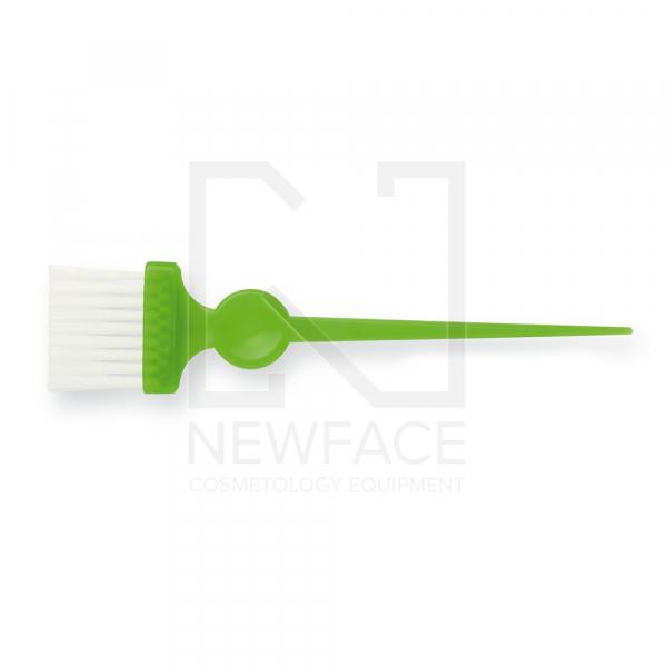 Pędzelek Wąski Zielony Z Białym Włóknem #1