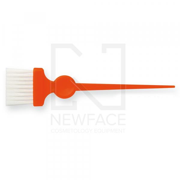 Pędzelek Wąski Pomarańczowy Z Białym Włóknem #1