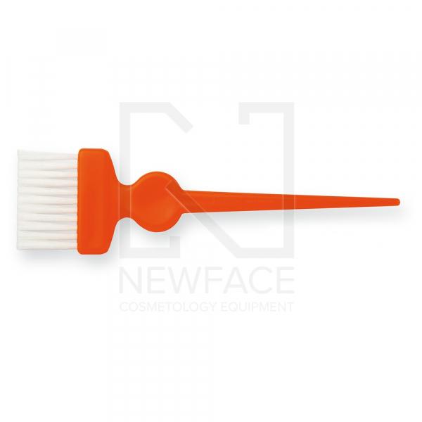 Pędzelek Szeroki Pomarańczowy Z Białym Włóknem #1