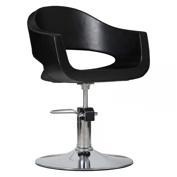 Fotel Fryzjerski Prato Czarny #1