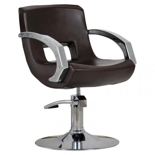 Fotel Fryzjerski Roma Brąz #1