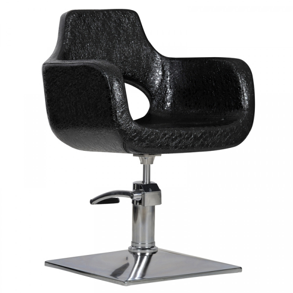Fotel Fryzjerski Mediolan Czarny Krokodyl #1