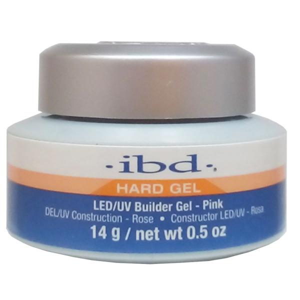 IBD Builder Gel Pink, 14g LED - różowy żel budujący #1