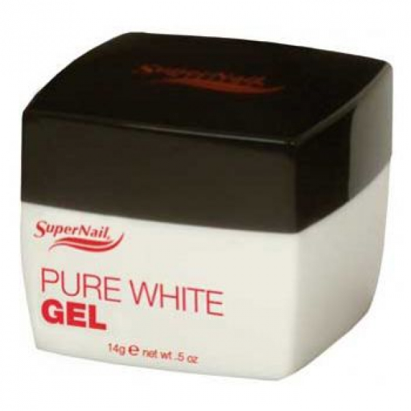 Supernail Żel Pure White Gel, 14 g #1