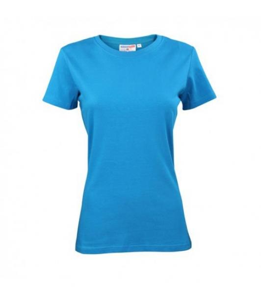 T-Shirt Damski Turkusowy, Rozmiar XS #1