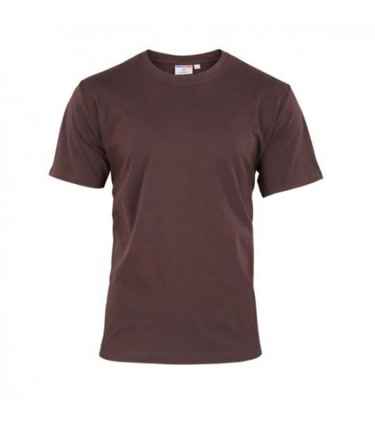 T-Shirt Męski Brązowy, Rozmiar S #1