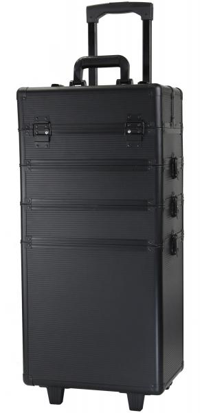 Kufer Kosmetyczny Na Rolkach TC004 Black Strip #1
