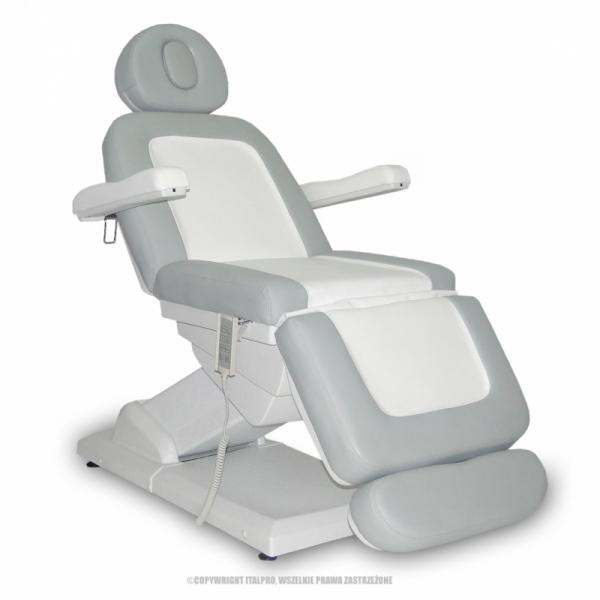 Fotel Kosmetyczny S-Lux Biały/Popiel #1