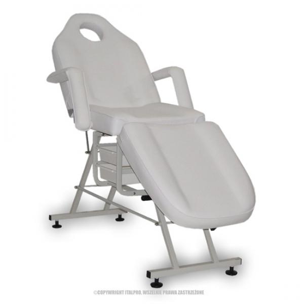 Fotel Kosmetyczny Standard Max Biały #1