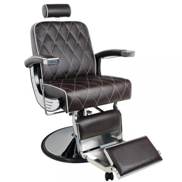 Gabbiano Fotel Barberski Imperial Brązowy #1