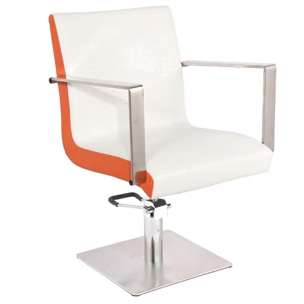 Gabbiano Fotel Fryzjerski Roma Biało-Pomarańczowy #1