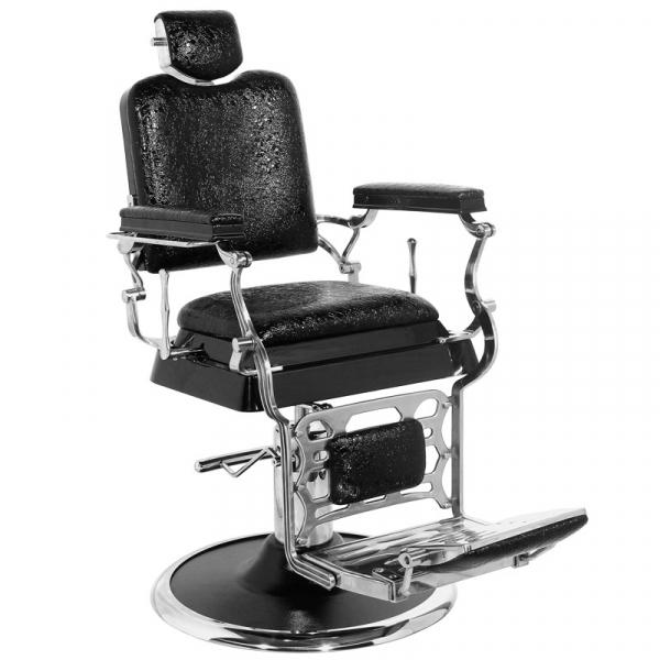 Gabbiano Fotel Barberski Old King Czarny #1