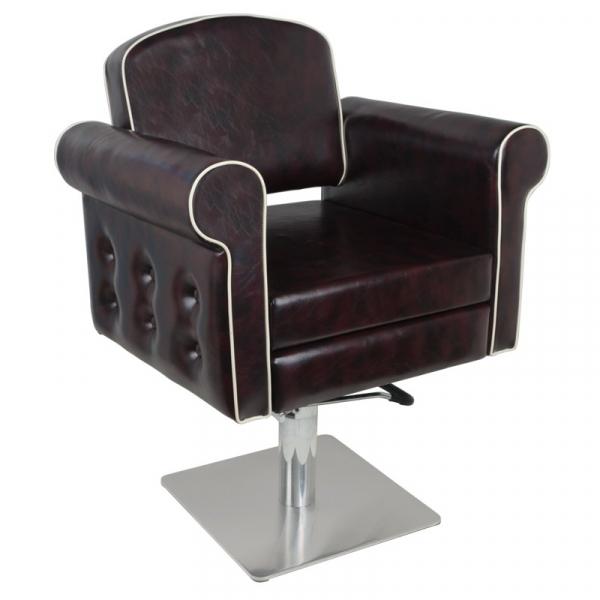 Gabbiano Fotel Fryzjerski Ateny Bordowy #1