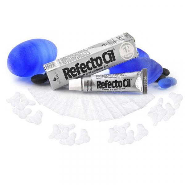 Zestaw Henna Refectocil Grafit + Płatki Pod Oczy 50 Szt. #1