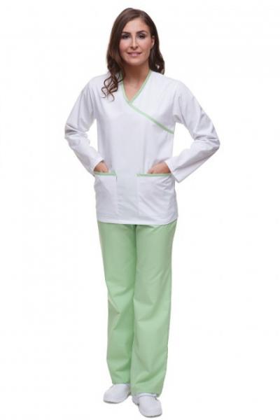 Bluza Mankiet Bez Lamówki T2092 Rękaw Długi Kolorowa #1