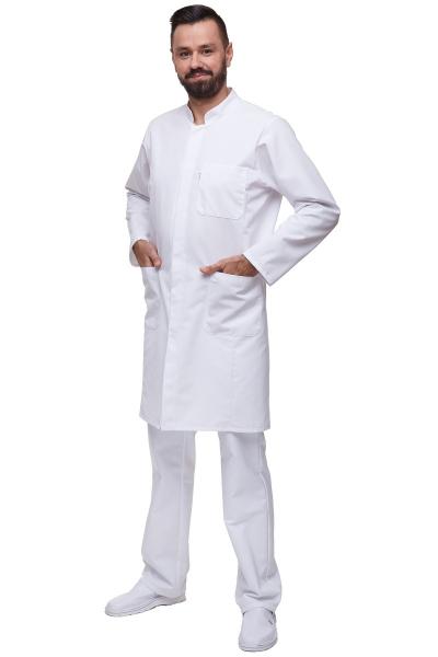 Fartuch Męski M5022 Rękaw Długi Biały #1