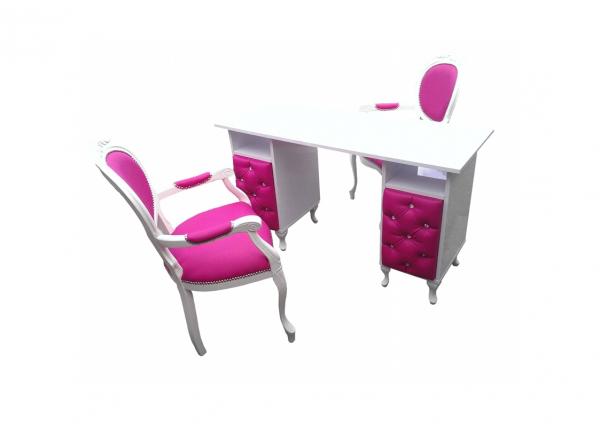 Elegancki Zestaw Kosmetyczny Stolik + Krzesła #1