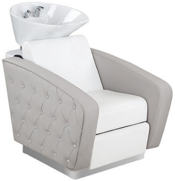 Myjnia Fryzjerska Royal Misa Biała Z Podnóżkiem #1