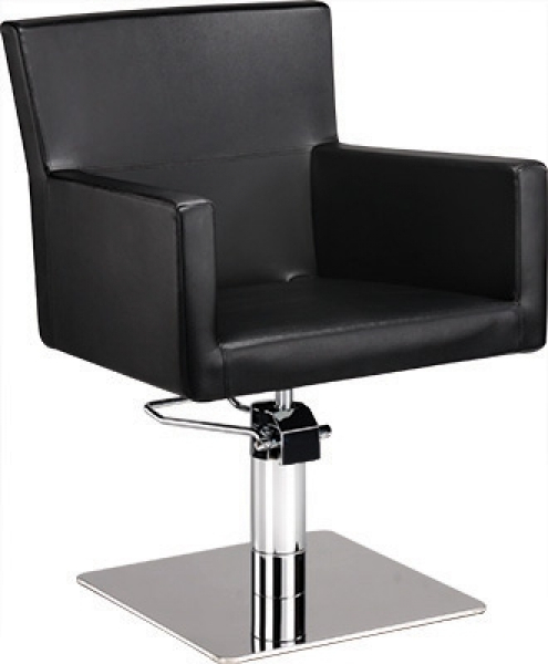 Fotel Fryzjerski Isadora Czarny Baza Pająk W 48h #1