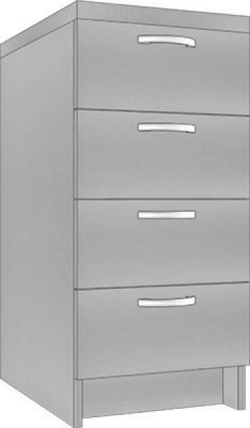 System Modułowy SDS 40 Szafka Z Szufladami, Płyta Połysk, szerokość 40 cm #1