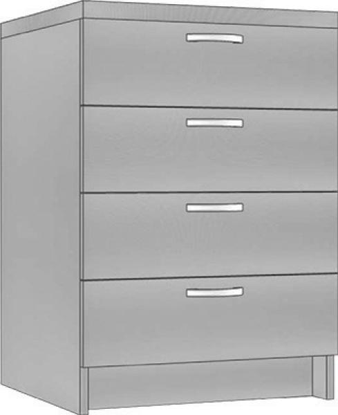 System Modułowy SDS 40 Szafka Z Szufladami, Płyta Połysk, szerokość 40 cm #2