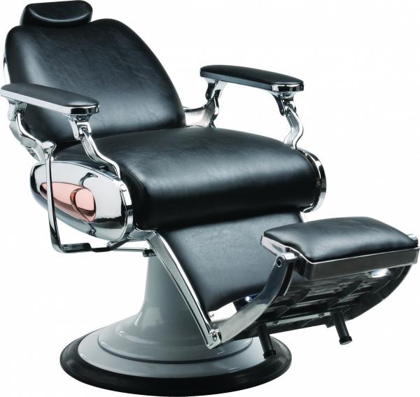 Fotel Fryzjerski Barber Tiger Męski Czarny W 48h #1