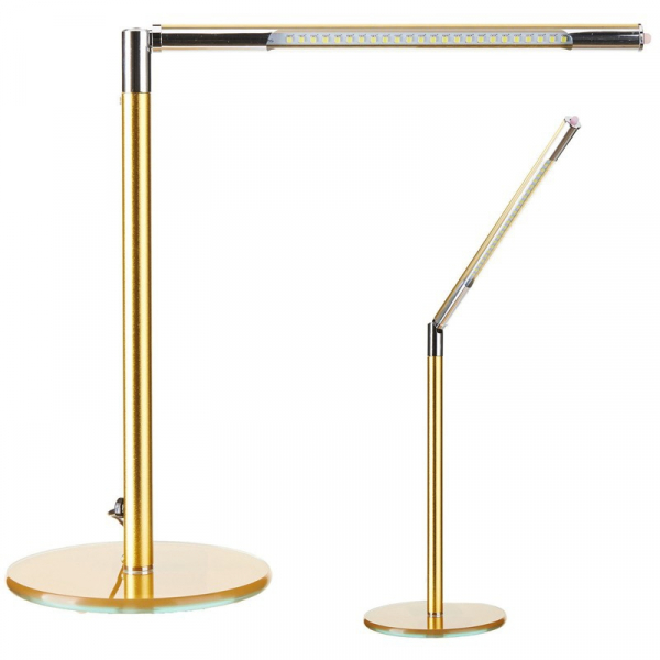 Lampa Led Na Biurko Ultra Slim Gold #1